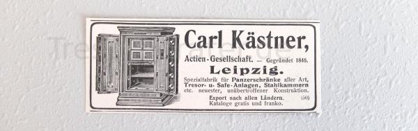 Carl Kästner Werbeanzeige 1911