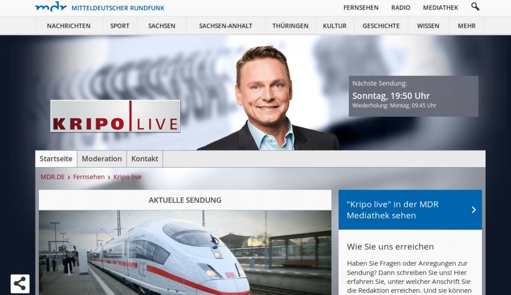 Axel Bulthaupt bei KRIPO live