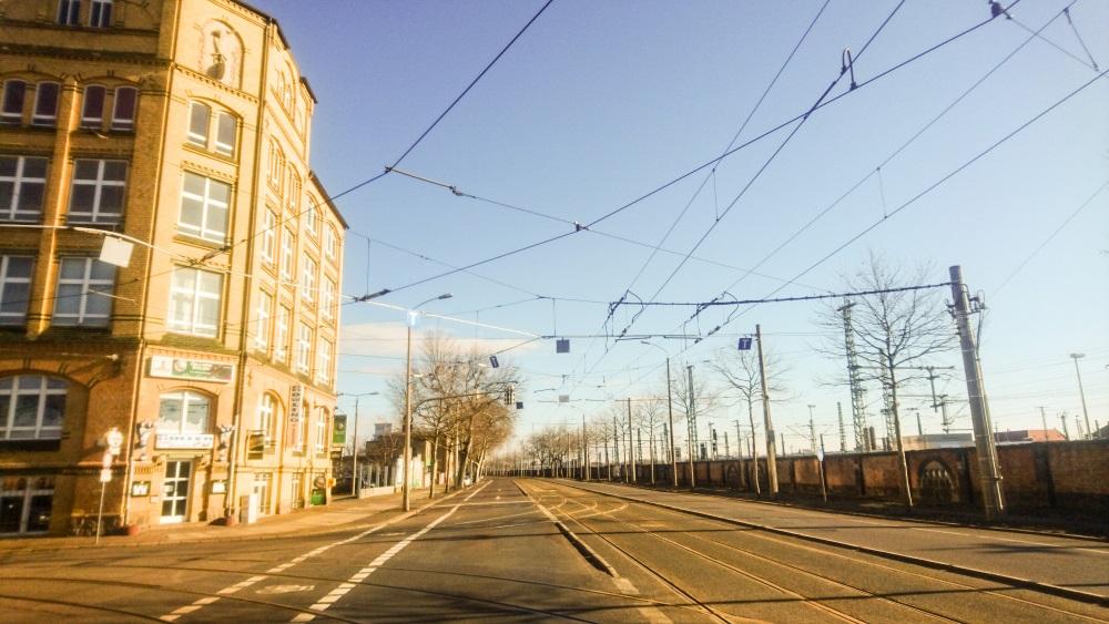 Gebäude der Carl Kästner linker Hand