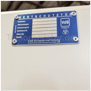 VdS Plakette Wertschutztür (Waffenraumtür)