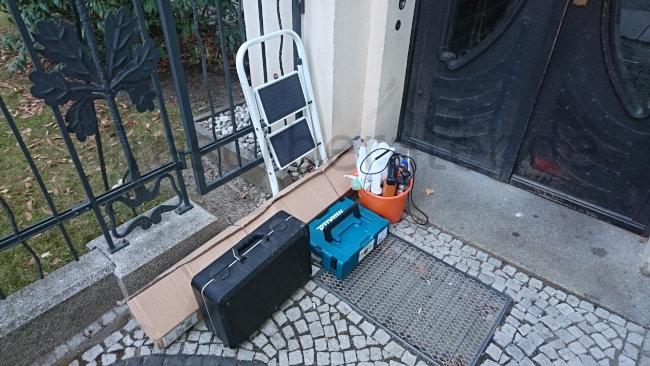 Arbeiten am Einbruchschutz - Werkzeug und Material