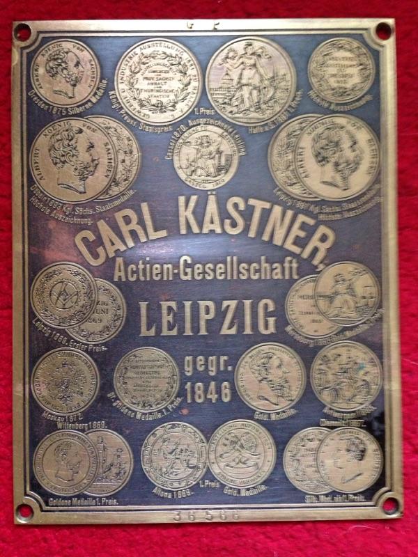 Carl Kästner Tresorschild  antik Tresorplakette