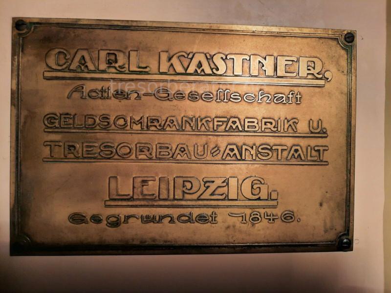 Tresorschild Carl Kästner Leipzig